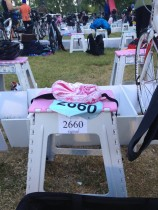 just to be clear, I snapped this before the race, although my time in transition 1 might imply otherwise.