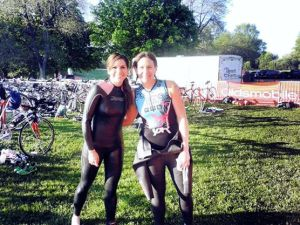 Me and Claudia before the start.