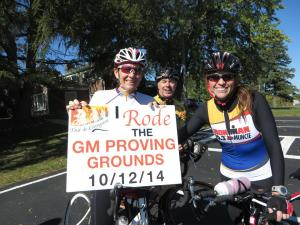 Riding the GM Proving Grounds during the Tour de Livingston